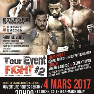 Amine a l'affiche du Tour Event Fight