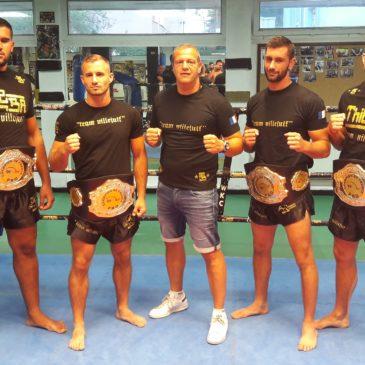 Amine, Bertrand, Greg et Ben les 4 Champions de France Pro 👊👏👍